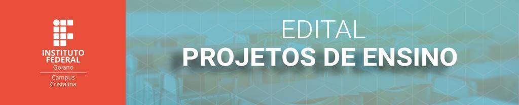Edital Projetos de Ensino